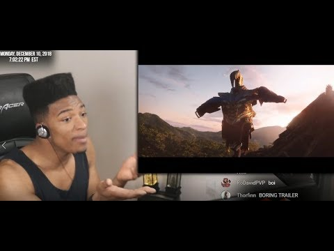 ETIKA REACTS TO MARVEL AVENGERS 4 END GAME TRAILER