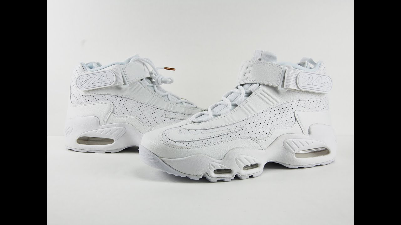 quality design 7f69a 06ffe Nike Air Griffey Max 1 InductKid Triple White Review