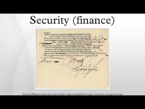 Security (finance)