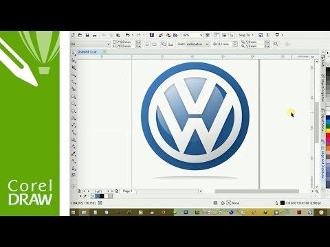 how-to-make-vw-logo-in-coreldraw