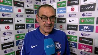 """""""Hazard at striker is a very good option!"""" Mauricio Sarri speaks after first win over Pep Guardiola"""