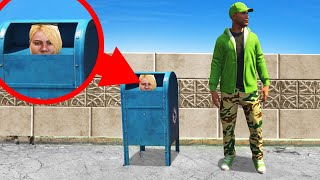 Using A MAILBOX To HIDE! (GTA 5 Hide And Seek)