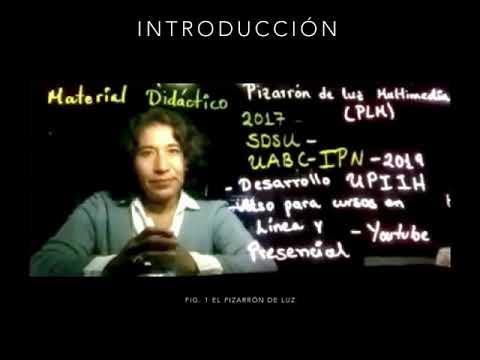 (350) Material Didáctico con un Pizarrón de Luz Multimedia