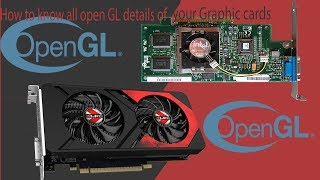 how to check how many opengl version your graphic card support with software