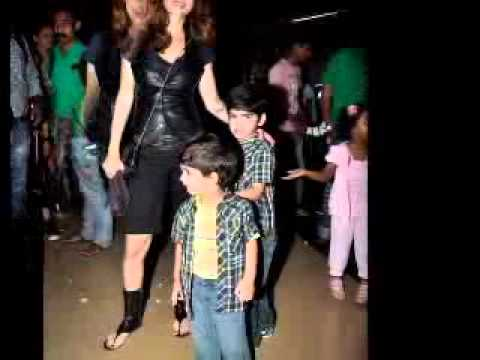 Suzanne Khan and Hrithik Roshan playing with there kids ...