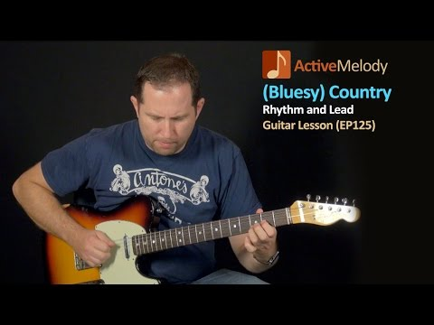 Country Rhythm and Lead Guitar Lesson - Country Blues Guitar Tutorial - EP125