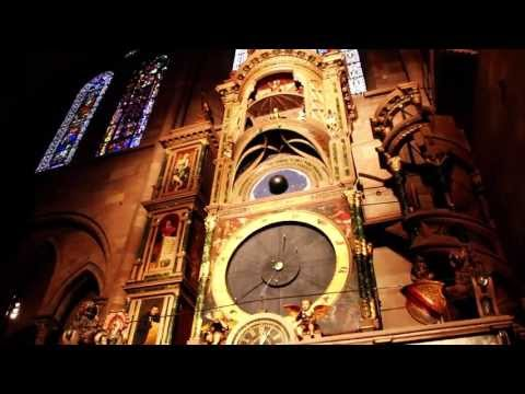 Strasbourg Astronomical Clock At Notre Dame Cathedral Hd
