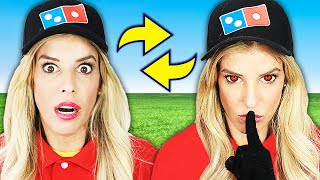 I Switched Places with RZ Twin for 24 Hours to Open a Dominos in Our House! Bad idea
