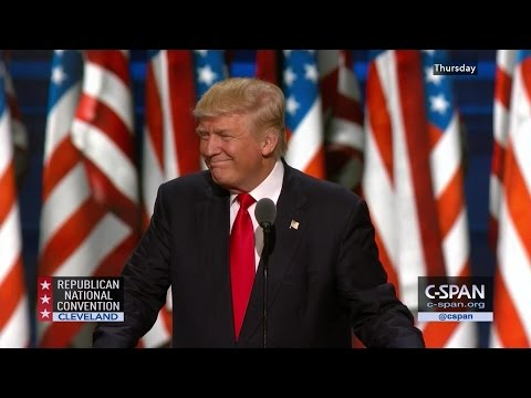 Donald Trump FULL REMARKS at GOP Convention (C-SPAN)