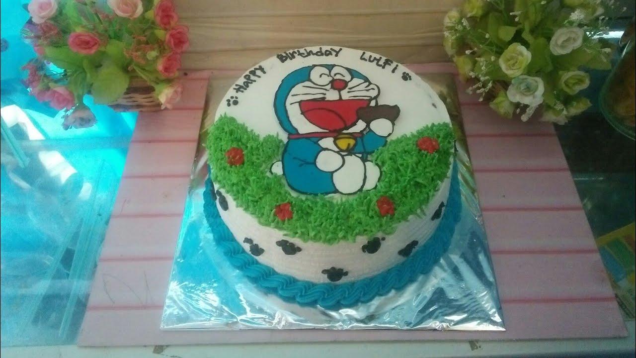 Kue Ulang Tahun Doraemon Untuk Anak Laki Perempuan Youtube
