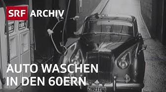 Erste automatische Autowaschanlage (1965) | Automatisierung Schweiz | SRF Archiv