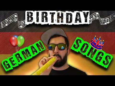 A native speaker sings the top 3 popular German birthday songs! 🎤 + English translation | VlogDave
