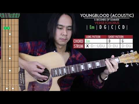 Youngblood Guitar Cover Acoustic - 5SOS 🎸 |Tabs + Chords|