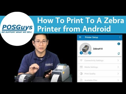 POSGuys How To: Print To A Zebra Printer From Android - YouTube