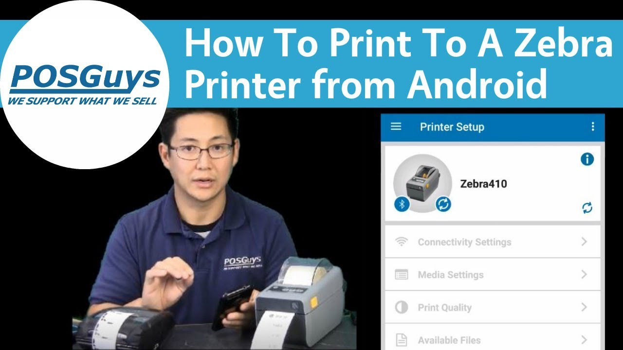 POSGuys How To: Print To A Zebra Printer From Android