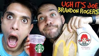Letting The Person in FRONT of Us DECIDE What We Eat with my 5th BEST FRIEND!!