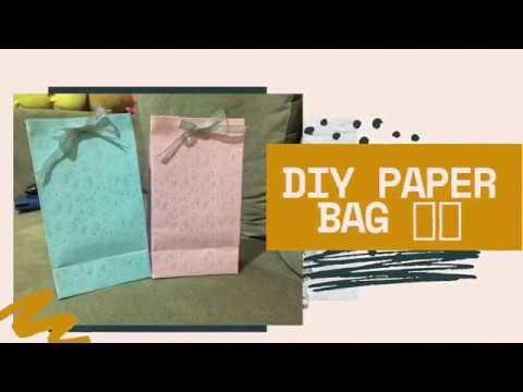 DIY paper bags / Very easy 👍🏻