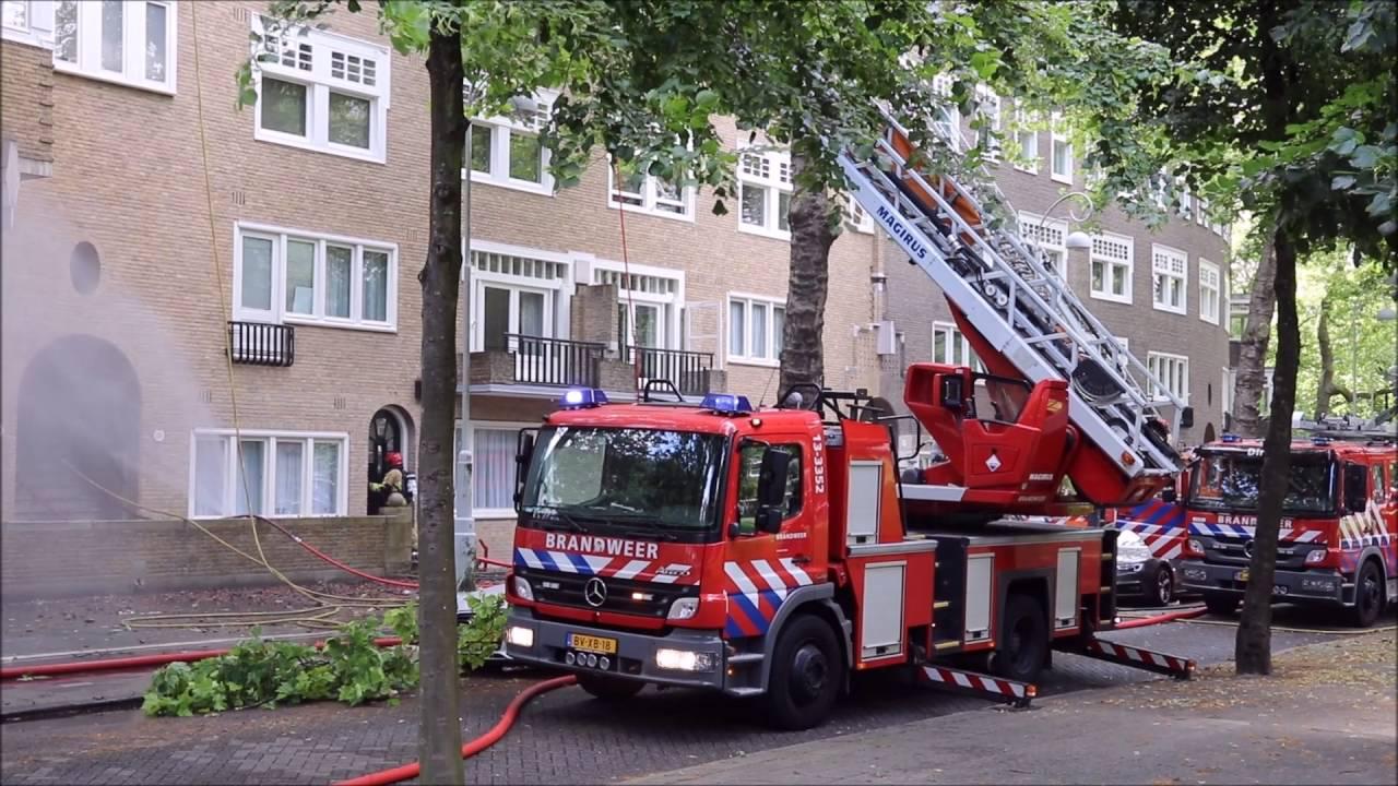 Grote Brand Op Zolders Op De Apollolaan In Amsterdam