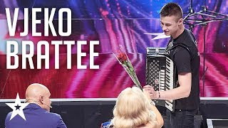 Vjeko Brattee annoys the judges and announces his comeback│Supertalent 2018│Auditions
