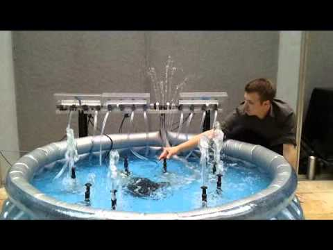 Musically Excited water fountain - exhibition