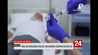 Covid-19 en Perú: el 48 % de los peruanos no se vacunaría contra el coronavirus