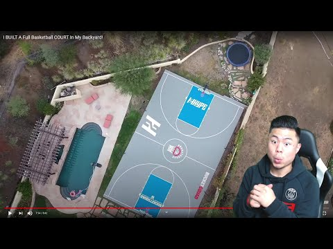 CALLING JESSER OUT TO 1v1 BASKETBALL! REACTING TO HIS NEW COURT!