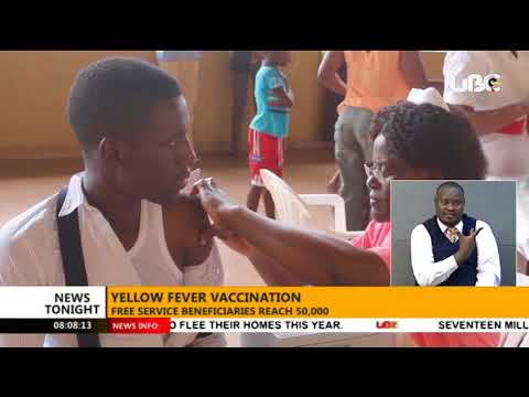 Free Yellow Fever vaccination in Uganda attracts over 50,000 beneficiaries #UBCTonight 7 Dec 2017
