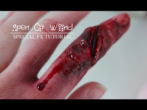 Open Cut Wound | SFX Makeup Tutorial