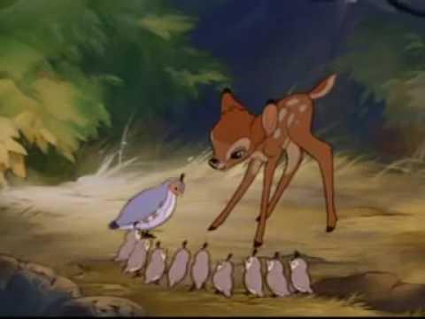 Бэмби мультфильм 1942