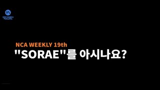NCA Weekly #19 SORAE를 아시나요?