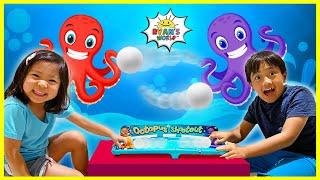 Ryan vs Emma Octopus Board Game Challenge!!
