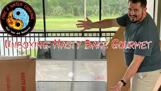 Hasty Bake Gourmet 257 Stainless Steel Charcoal Grill & Oven Unboxing Part 1