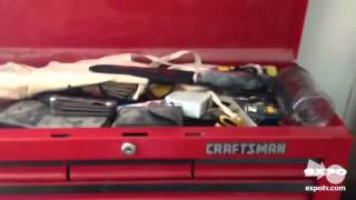 "Craftsman 26"" Wide 5-drawer Top Chest - Red/black Review"