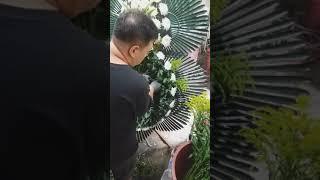보람의정부 장례식장 장례화환 근조3단화환 제작
