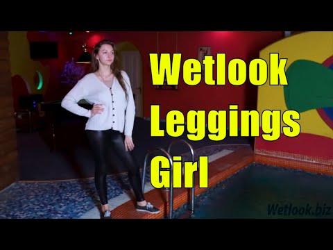 Wetlook Leggings | Pool wetlook from YouTube · Duration:  37 seconds