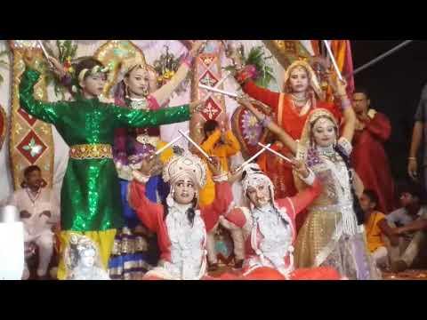 RADHA KRISHNA DANDIYA DANCE JHANKI JANMASTAMI SONGS