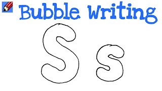 How to Draw Bubble Writing Real Easy - Letter S