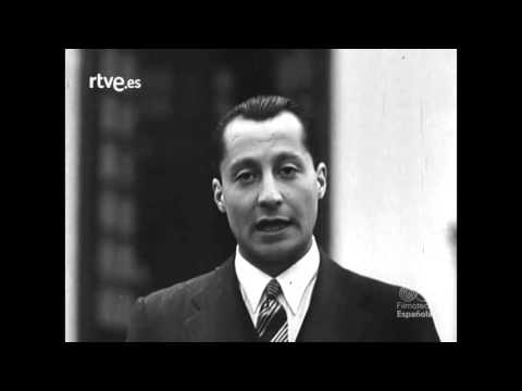 Discurso en tres idioma de J.A. Primo de Rivera