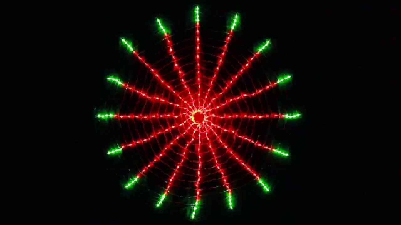 256 LED Red Green Circle Net Christmas Lights with Clock ...