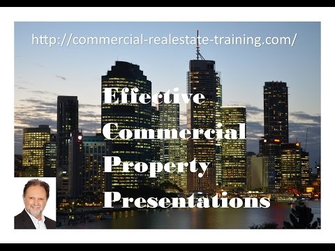 How to do a Commercial Real Estate Property Presentation or Proposal