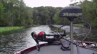 Ranger Boat running the Ocklawaha River