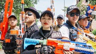 LTT Game Nerf War : Couple Warriors SEAL X Nerf Guns Fight Inhuman Group Destruction Mission