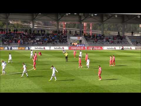 FC Bienne vs Grasshoper Club Zurich Coupe Suisse 2017. Couli