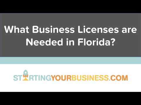 What Business Licenses are Needed in Florida - Starting a Business in Florida
