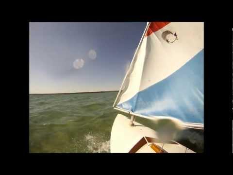 Sailing Higgins Lake In A Minifish