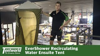 EverShower Recirculating Water Ensuite Tent - Set Up and Pack Away Demo