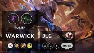 Warwick Jungle vs Lee Sin - KR Master Patch 9.18