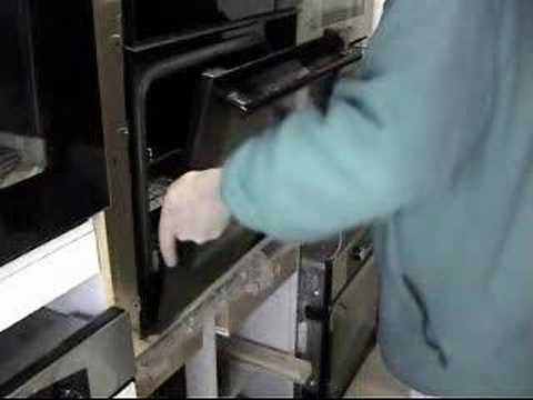 How To Fit And Remove A Cooker Oven Door Youtube