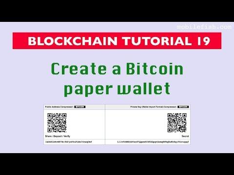 Blockchain Tutorial 19: Create Bitcoin Paper Wallet