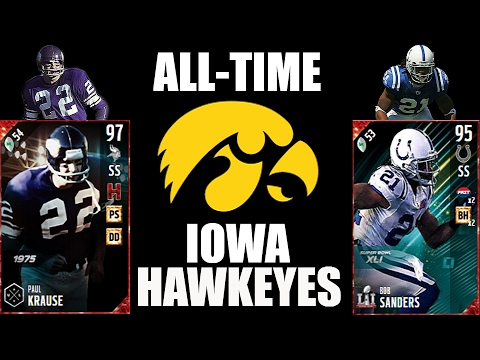 All-Time Iowa Hawkeyes Team - Paul Krause and Bob Sanders! - Madden 17 Ultimate Team
